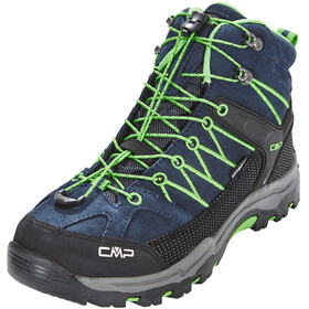 CMP Campagnolo Rigel Mid WP Trekking Shoes Junior Black Blue-Gecko